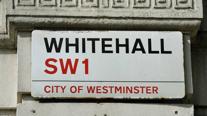A Whitehall street sign