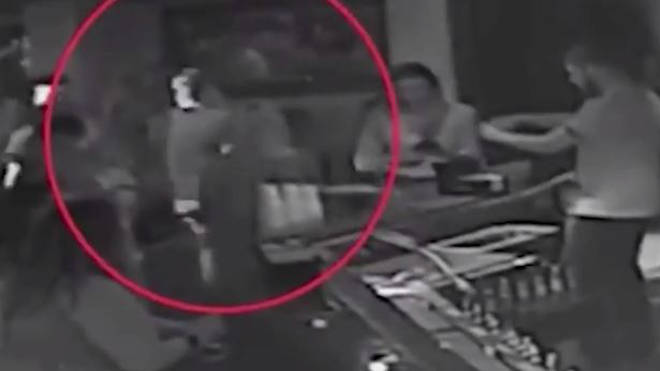 Moment Woman Takes Down Bouncer in Chokehold Over Mistaken Grope