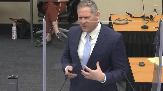 Prosecutor Steve Schleicher gives closing arguments