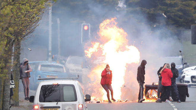 A fresh wave of protests erupted on the streets of Belfast on Monday