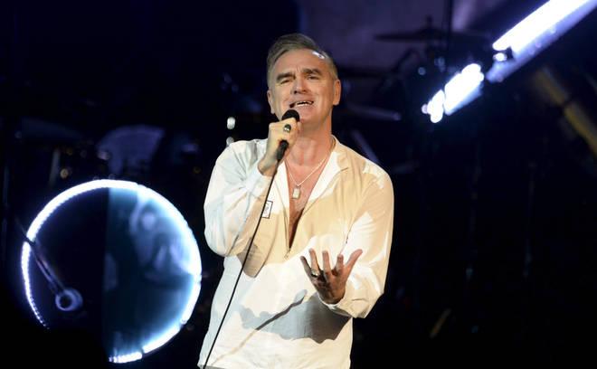 Morrissey performing in 2014