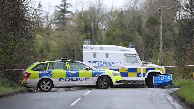Police put in place a security operation after the explosive was discovered