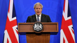 Boris Johnson announced the government's new antivirals taskforce on Wednesday