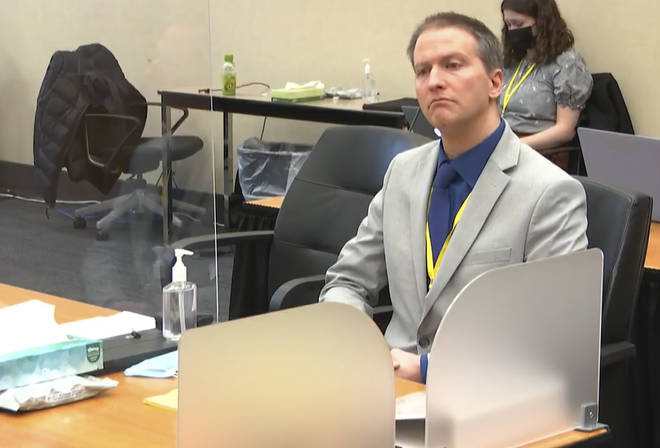 Derek Chauvin during his trial in Minneapolis