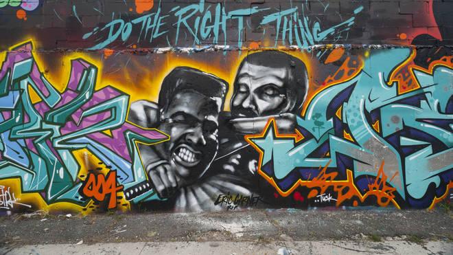 A mural to Eric Garner in Brooklyn, New York