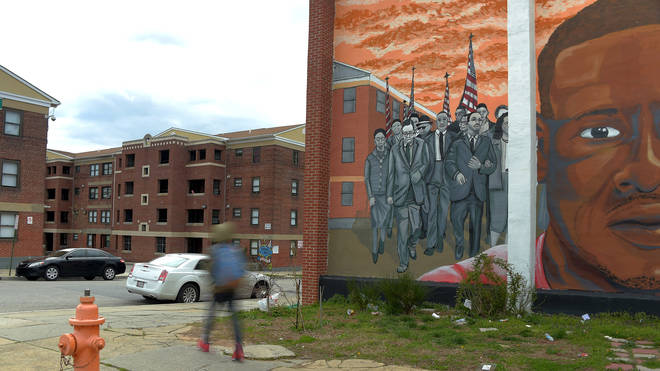 A mural to Freddie Gray in Baltimore
