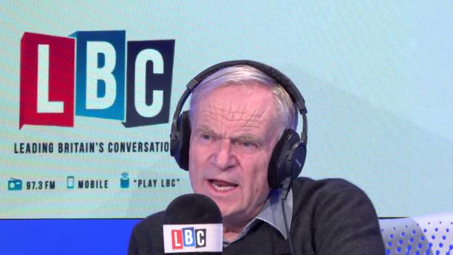 Lord Archer in the LBC studio