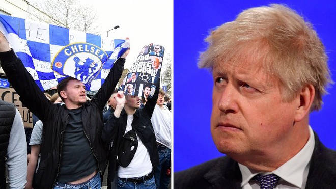 Boris Johnson has joined fans in being opposed to the European Super League