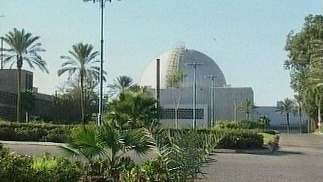 An image from video showing what is said to be Israel's top secret nuclear facility in Dimona