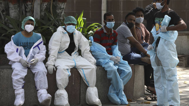 Health workers rest