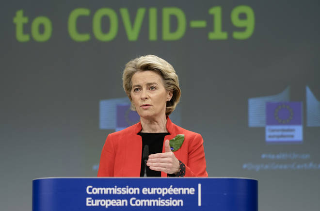 European Commission President Ursula Von Der Leyen previously threatened vaccine export blocks if AstraZeneca did not provide the expected number of doses.