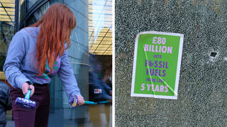 On Earth Day, Extinction Rebellion activists smashed the windows at HSBC's headquaters.