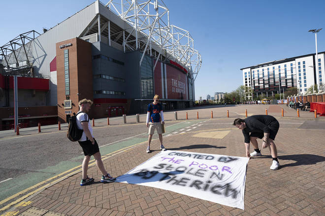 Man United fans have previously protested outside Old Trafford.