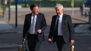 Retired South Yorkshire Police officer Alan Foster (right) is accused of amending Hillsborough statements