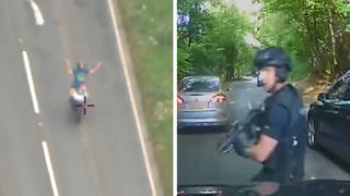 Armed officers and a helicopter were called in as part of the 145mph police chase.