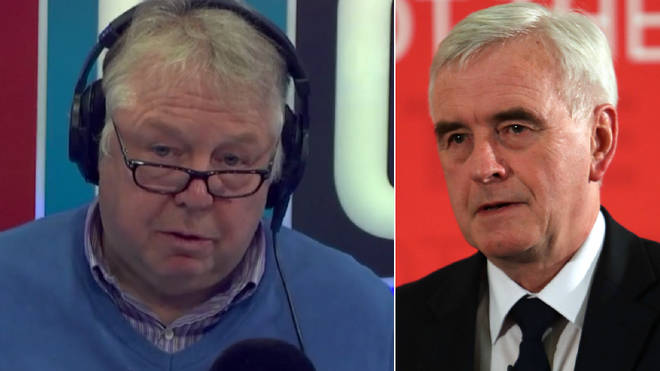 Nick Ferrari had strong words for John McDonnell