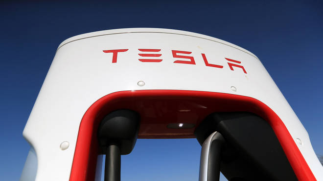 A Tesla logo