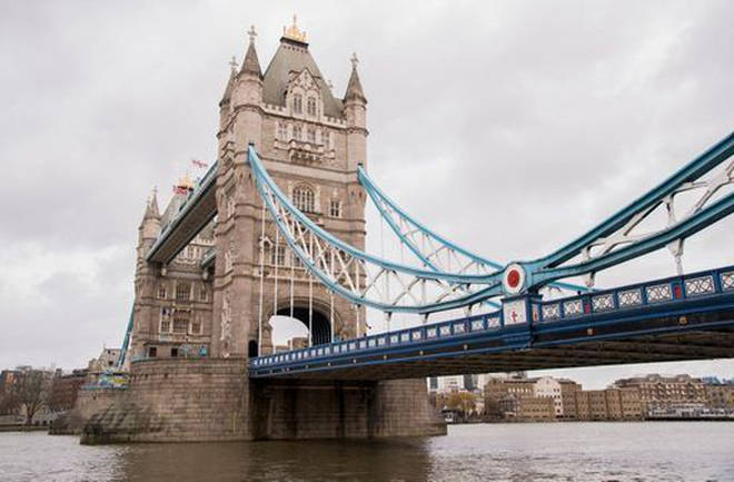 Tower Bridge in London during England's third national lockdown