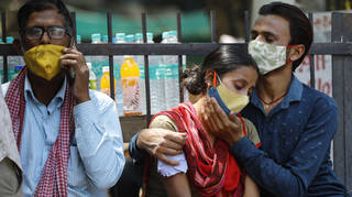 Caller in India shares absolute fear of Covid crisis as healthcare system buckles
