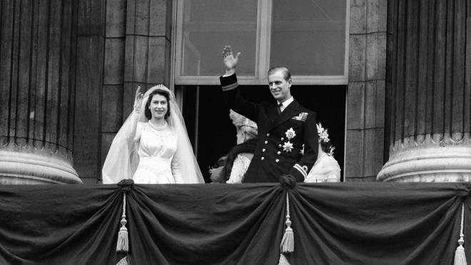 The Queen's wedding to Prince Philip