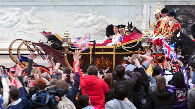 William and Kate's lavish wedding in 2011