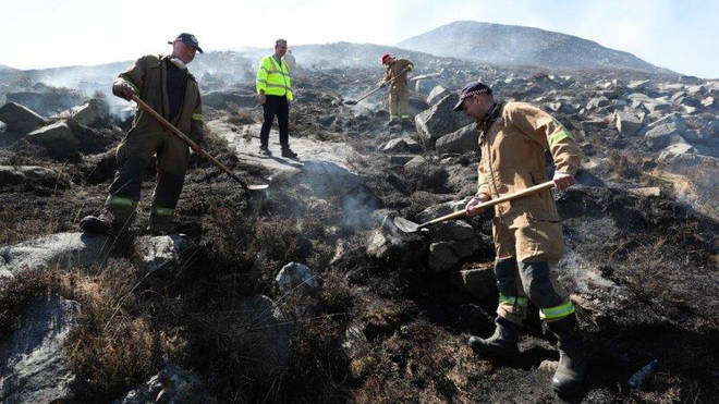 More than 70 firefighters have tackled the blaze