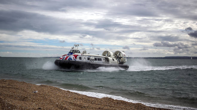 The woman was found near the hovercraft port in Southsea, and Hovertravel said its Solent Flyer hovercraft was alerted