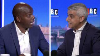 Shaun Bailey and Sadiq Khan in heated row over London policing strategy