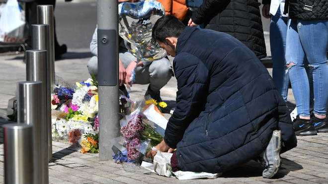 Tributes were left to Fares near the scene
