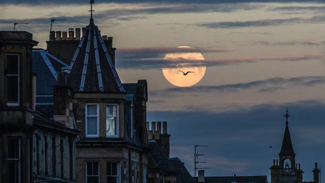 Last year's Pink Supermoon above Edinburgh
