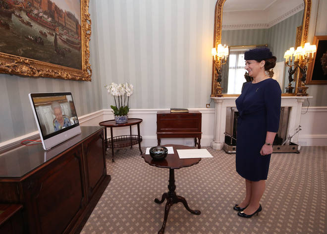 She also received Her Excellency Ivita Burmistre, the Ambassador of Latvia,