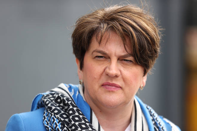 Arlene Foster has downplayed reports she is fighting to remain the leader of the DUP