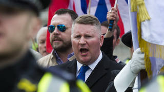 Britain First's leader Paul Golding was duped into protesting outside hotels not housing asylum seekers