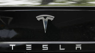 A Tesla car logo