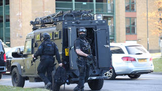 Armed police were dispatched to the scene at Crawley College