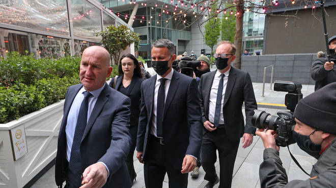 Former Manchester United footballer Ryan Giggs has denied a charge he was violent and engaged in controlling behaviour towards his ex-girlfriend