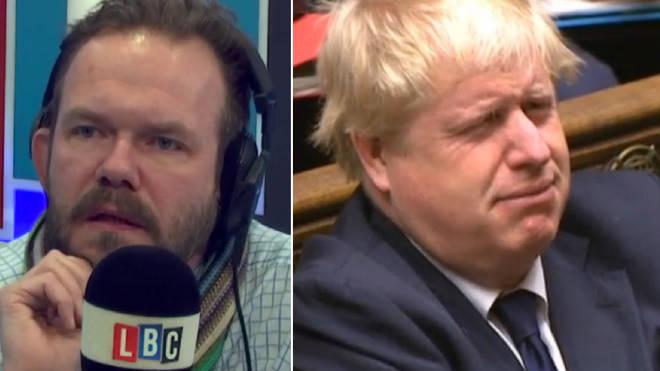 James O'Brien had strong words for Boris Johnson