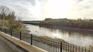 The 74-year-old was kicked into the freezing River Mersey on Sunday