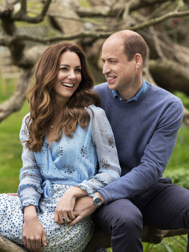 The pictures were taken at Kensington Palace this week by photographer Chris Floyd