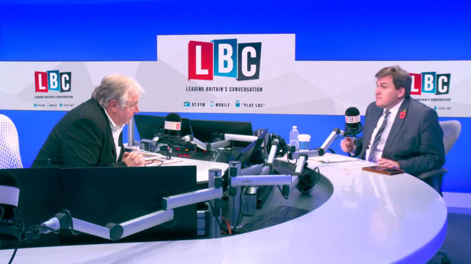 Nick Ferrari with the Housing Minister Kit Malthouse in the LBC studio.