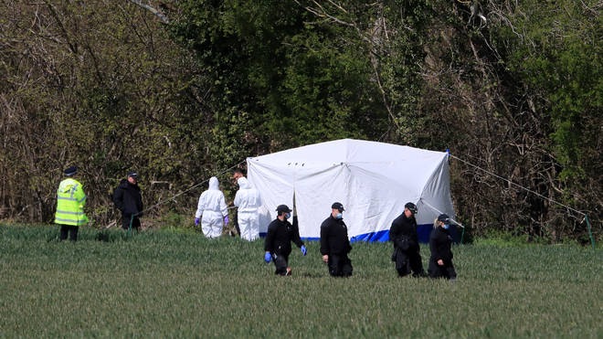 """Detectives are considering """"all possible"""" motives for the murder Ms James, 53, who was found in Akholt Wood in Snowdown, near Aylesham in Kent, on Tuesday"""