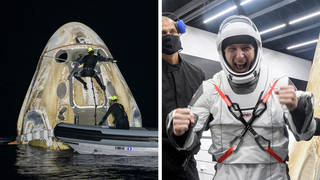 SpaceX has returned four astronauts from the International Space Station, marking the first US crew splashdown in darkness since the Apollo 8 Moon mission.