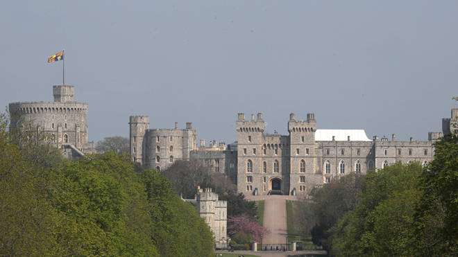 A male and female intruder scaled a fence and broke into the Queen's Windsor estate (File image shows Windsor Castle)