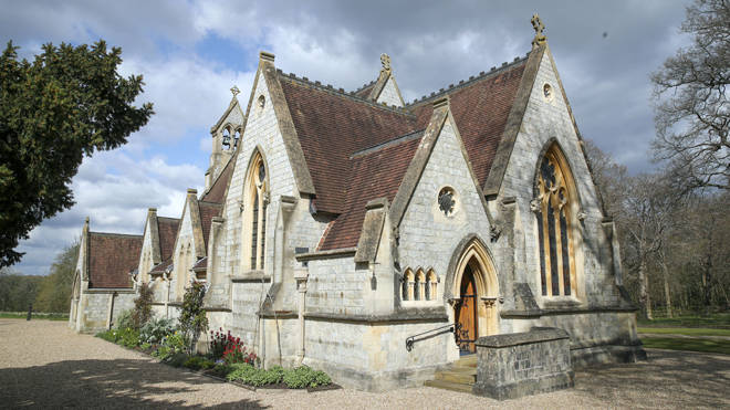 The lodge grounds include All Saints Chapel where the Queen attends services