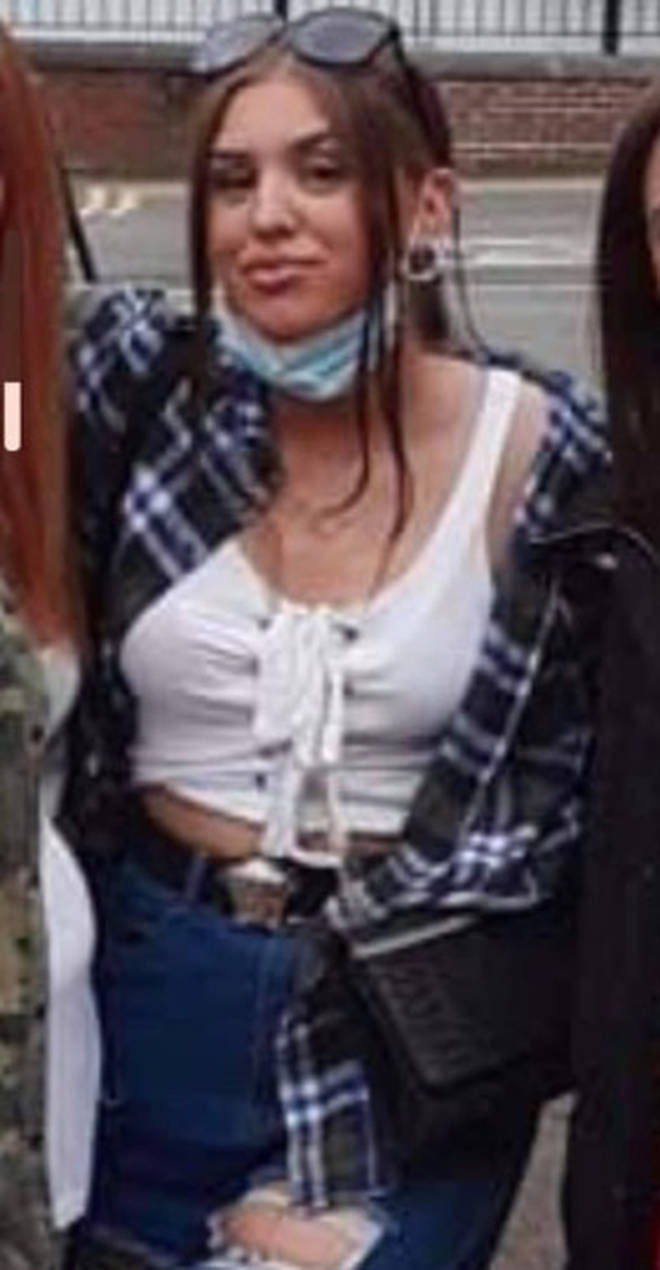 Lybi Halliday was was last seen wearing a dark green checked shirt with a white crop top tied in the middle, baggy blue ripped jeans, sunglasses and was carrying a small black handbag.