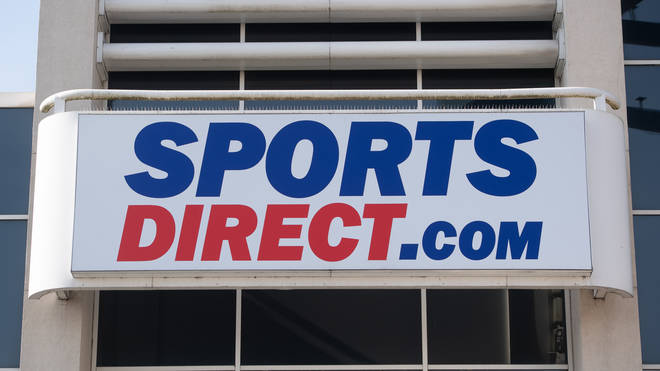 A Sports Direct shop sign