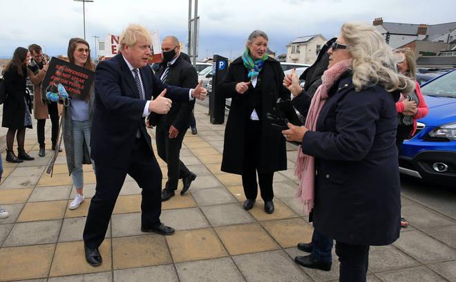 Boris Johnson on the campaign trail in Hartlepool