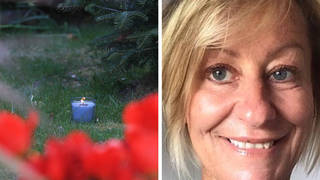 At Ms James' home in Snowdon, a candle was lit and left by her family in her front garden