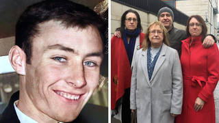 Two soldiers have been acquitted of the murder of Joe McCann. Pictured are his daughter Nuala, widow Anne, daughter Aine, and son Fergal