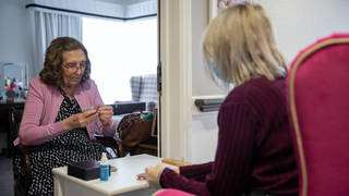 Current guidance says care home residents in England can nominate up to two named visitors for regular visits